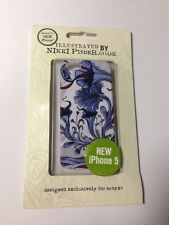 Brand New -Apple iPhone 5/5S -White & Blue -Clip On Back Premium Protective Case