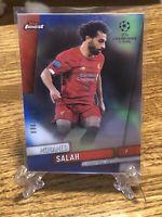 Mohamed Salah 2019-20 Topps Finest UEFA Champions League Blue Refractor 96/150