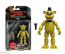"""New Authentic Five Nights At Freddy's Golden Freddy 5"""" Figure IN STOCK BAF"""