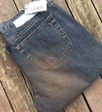 "Iceberg Ice Straight Leg Jeans BNWT Waist 32"" Leg 36"" Bronze Dust Effect."