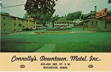 """Rochester MN """"Connolly's Downtown Motel Inc.""""  Postcard Minnesota *FREE US SHIP*"""