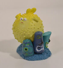 "2003 Bloat the Blowfish w/ Tiki Masks 2"" PVC Action Figure Disney Finding Nemo"