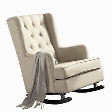 Levede Rocking Chair Nursing Baby Feeding Armchair Lounge Sofa Linen Fabric