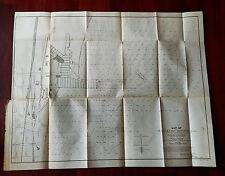 1899 Waukegan Harbor Illinois Map Captain Warren