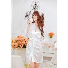 Biancheria camicie da notte bianca senza marca per la notte da donna