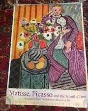 Poster North Carolina Museum Art Matisse, Picasso the school of Paris Exhibit #2