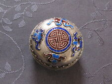 CHINESE SILVER BOX ENAMEL  BOITE EN ALLIAGE D ARGENT ASIE CHINE