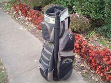 "Sun Mountain Back 9 Dx 9"" Canvas Cart Golf Bag w Putter Pocket and Rain Hood"