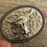 NEW HIGH QUALITY BULL Rodeo BELT BUCKLE Western MEN COWBOY SILVER Low Price
