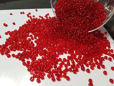 lot 20g perles de rocaille 4mm ROUGE TRANSPARENT //20