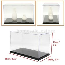 Plastic Acrylic Display Show Box Transparent Case Toy Dustproof Tray Protection