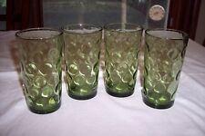 Set of 4 Vintage Hazel Atlas Eldorado-Green 10 Ounce Tumblers