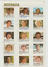 AUSTRALIAN CRICKETERS 1977 ASHES TOUR RARE ORIG HAND SIGNED CUTTINGS 10 X SIGS