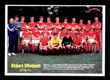 Kickers Offenbach Mannschaftskarte 1970-71 TOP