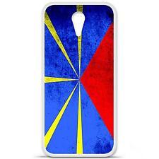Coque housse étui tpu gel motif drapeau La Réunion HTC Desire 610