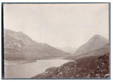 Suisse, Paysage montagneux  Vintage citrate print. Tirage citrate  8x11  C