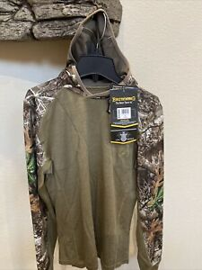 Browning Merino Wool Base Layer Shirt With Hood size small