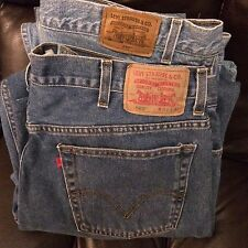 Lot of 2 Levis sz 42 x 30 560 red tab comfort fit 540 orange tab Relaxed