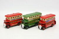 Days Gone LLedo 1/55 - Lot de 3 Bus à Imperiale London Bus B