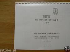 D0056 DKW---ERSATZTEILE-KATALOG 75/2      RT125/2H + RT125/2----MODEL 1954