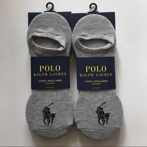 Ralph Lauren Polo 6 Pair Dress Liners Big Pony