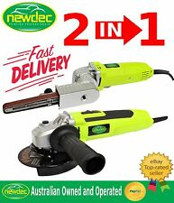 NEW 2in1 ANGLE GRINDER BELT SANDER TOOLS ELECTRIC VARIABLE GRINDING LIKE MAKITA
