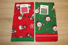 NEW (Lot of 2) Christmas Bandanas Holiday Patterns in Red and Green