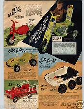 1971 PAPER AD Chain Drive Chopper Mean Machine Mod Cycle ATV Dune Buggy Rider