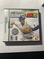 MAJOR LEAGUE BASEBALL 2K10 game complete w/ manual for NINTENDO DS or 3DS