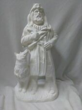 """Mountain Man with Wolf  12"""" Ceramic Bisque, Ready To Paint"""
