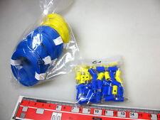 Konvolut 60 m Litze/Kabel + 60 Stecker blau/gelb #Q5+G1