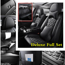 Full Set Luxury Leather 5-Seats Car Seat Cover Cushions For Interior Accessories