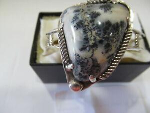 J-R - Spanish Moss Agate Bracelet - Sterling Silver