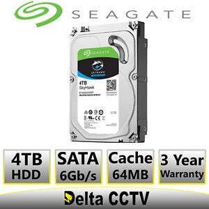 4TB Seagate hard drive for Hikvision DS-7608NI-I2/8P 8MP 8Ch 8 PoE 2 SATA NVR