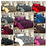 3 Piece Damask Flock Quilted Bedspread Comforter Throw Set Double Super King