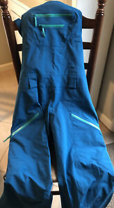 Arcteryx Sentinel Full Bib Pant Women's Medium Blue Green BARELY WORN