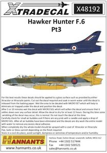 X48192 - NEW Xtradecal 1:48 Hawker Hunter F Mk.6 Collection - Part 3