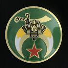 Shriners Etched Brass Auto Emblem (Green)