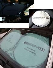 AMG Logo Vorne Hinten Auto Glasfenster Sonnenschutz set für Benz 150cm*70cm