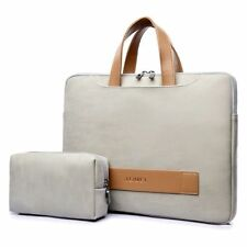 Laptop Bag Case Waterproof PU Leather Casual Computer Briefcase for Men Women