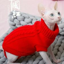 Sweater For Cats Clothing Cat Jumper For Cornish Sphinx Short Hair Cat Hoodies