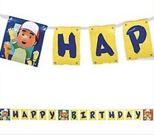 HANDY MANNY HAPPY BIRTHDAY BANNER  Party Supplies Hanging Decorations