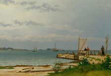View towards Koster from the jetty at Kallehave Eckersberg Meer Boote B A3 01171