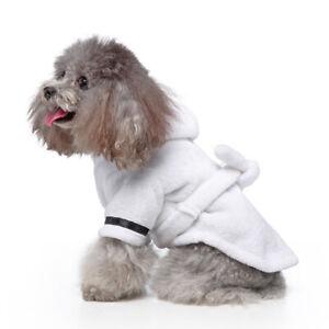 Fleece Pet Night Robe Dog Pajamas Dog Bathrobe Dressing Absorbing Gown Clothes