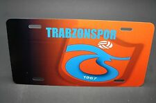 TRABZONSPOR LICENSE PLATE FOR CARS METAL ALUMINUM TURKISH SOCCER FOOTBALL