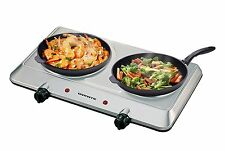 Electric Double Hot Plate Burner 2 Two Cooking Stove Commercial Portable 1500w