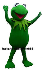 Kermit the Frog Costume Halloween Mascot Party Cosplay Adult Fancy Dress Outfits
