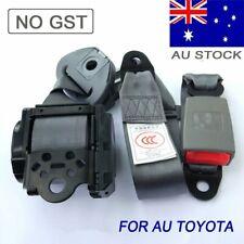Gray 3 point Universal Safety Sash Seat Belts Seatbelts Extender Fits Toyota AU