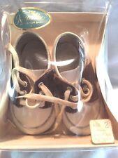 Vintage Baby Shoes / Keepsake / Size 2 / Leather / Saddle Shoes / Nos / 3-4 Mo.