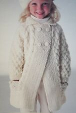 Girls Coat/Jacket KNITTING PATTERN
